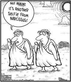 How Many Selfies Would Narcissus Take? Sourced from Pinterest; originally pinned by www.debbiecharles.com